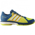 Adidas Men's Energy Boost Tennis Shoes (Blue/White/Yellow) - Men's Tennis Shoes