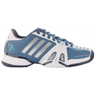 Adidas Barricade Novak Pro Men's Tennis Shoes (White/Silver/Blue) - Adidas Tennis Shoes