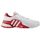 Adidas Men's Barricade Boost Tennis Shoes (White/Red) - Promotions