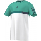 Adidas Boys Barricade Tee (White/ Mint/ Blue) - Boy's Tennis Apparel