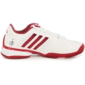 Adidas Barricade Novak Pro Men's Tennis Shoes (White/Red/Silver)