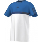 Adidas Boys Barricade Tee (White/ Blue/ Dark Blue) - Tennis Apparel