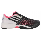 Adidas Men's CC adiZero Feather III Tennis Shoes (White/ Black/ Solar Pink) - Men's Tennis Shoes