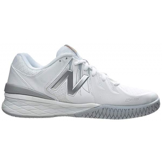 New Balance Women's WC1006WS (B) Tennis Shoes (White/Silver)