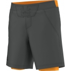 Adidas Men's adiZero Short (Grey/ Orange) - Adidas Men's Apparel