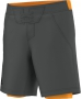 Adidas Men's adiZero Short (Grey/ Orange) - Men's Shorts Tennis Apparel