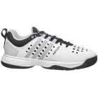 Adidas Men's Barricade Classic Bounce Tennis Shoes (White/ Silver/ Black) - Performance Tennis Shoes