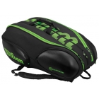 Wilson Blade 15-Pack Tennis Bag (Black/Green) - Wilson Blade Tennis Bag Collection