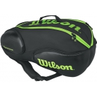 Wilson Blade 9-Pack Tennis Bag (Black/Green) - Wilson