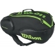Wilson Blade 9-Pack Tennis Bag (Black/Green) - MAP Products