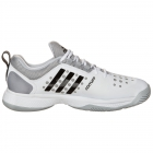 Adidas Men's Barricade Classic Bounce Tennis Shoes (White/ Black/ Heather) - Men's Tennis Shoes