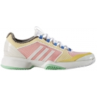 adidas Women's ASMC Barricade Upcycled Tennis Shoe (Wht/Yel/Pnk) - 6-Month Warranty Shoes