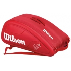 Wilson Federer DNA 12 Pack Tennis Bag (Red) - Wilson Federer Tennis Bags