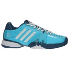 Adidas Barricade Novak Pro Tennis Shoes (Light Blue/White) - Adidas Barricade Tennis Shoes