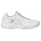 Asics Women's Gel Resolution 7 Tennis Shoes (White/Silver) - Asics Gel-Resolution Tennis Shoes