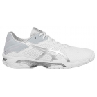 Asics Women's GEL-Solution Speed 3 Tennis Shoes (White/Silver) - Tennis Shoes
