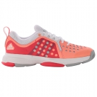 Adidas Women's Barricade Classic Bounce Tennis Shoes (Glow/ Silver/ Red) - Performance Tennis Shoes