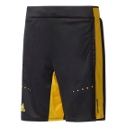 Adidas Boys' Barricade Tennis Shorts (Black/Yellow) - Boy's Bottoms