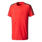 Adidas Boys' Barricade Tennis Tee (Scarlet) - Boy's Tennis Apparel