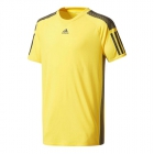 Adidas Boys' Barricade Tennis Tee (Yellow) - Boy's Tennis Apparel