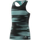Adidas Girls' Advantage Trend Tennis Tank (Black/Onix/Aqua) - Adidas Tennis Apparel