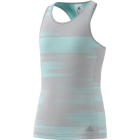 Adidas Girls' Advantage Trend Tennis Tank (Grey/Onix/Aqua) - Adidas Tennis Apparel