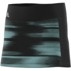 Adidas Girls' Advantage Trend Tennis Skirt (Black/Onix/Aqua) - Adidas Tennis Apparel