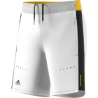 Adidas Boys' Barricade Tennis Shorts (White/Black/Yellow) - Boy's Bottoms