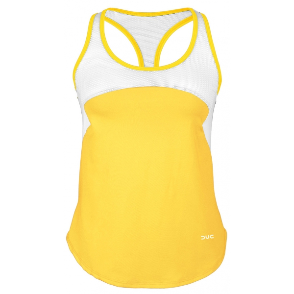 DUC Refreshing Women's Tennis Tank (Gold)