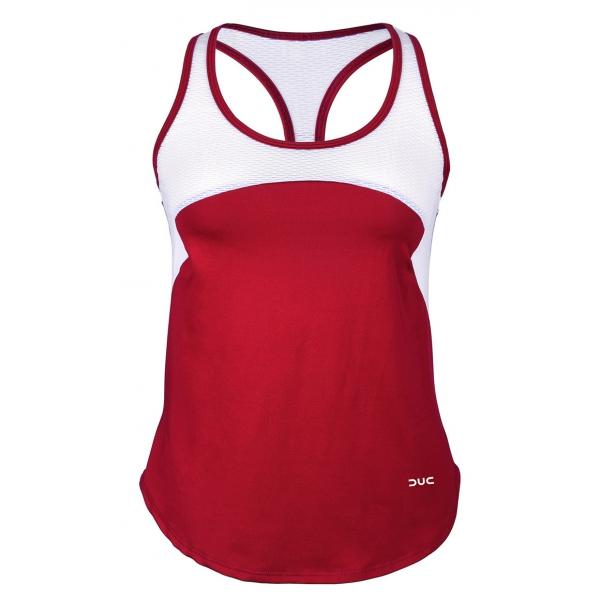 DUC Refreshing Women's Tennis Tank (Cardinal)