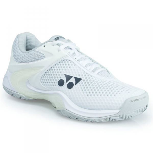 Yonex Women's Power Cushion Eclipsion II Tennis Shoe (White/Silver)