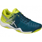 Asics Men's Gel Resolution 7 Tennis Shoes (Ink Blue/Sulphur Springs/White) - Asics