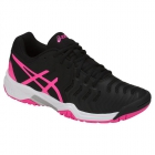 Asics Gel Resolution 7 Junior Tennis Shoes (Black/Hot Pink/Silver) - Asics