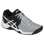 Asics Gel Resolution 7 Junior Tennis Shoes (Mid Grey/Black/White) - Asics