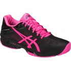 Asics Women's GEL-Solution Speed 3 Tennis Shoes (Black/Hot Pink/Silver) - Women's Tennis Shoes