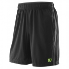 Wilson Men's Urban Wolf 2 Woven Tennis Shorts (Black/Blade Green) - Wilson Apparel