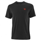 Wilson Men's Urban Wolf 2 Linear Tennis Crew (Black/Pro Staff Red) - Men's T-Shirts & Crew Necks