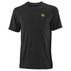 Wilson Men's Urban Wolf 2 Linear Tennis Crew (Black/Blade Green) - Men's T-Shirts & Crew Necks