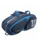 Wilson Tour V 6 Pack Tennis Bag (Blue) - 3 Racquet Tennis Bags