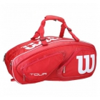 Wilson Tour V 15 Pack Tennis Bag (Red) - 7 Racquet Tennis Bags