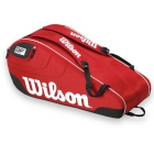 Wilson Federer Team III 6 Pack Tennis Bag (Red/ Black/ White) - Wilson