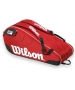 Wilson Federer Team III 6 Pack Tennis Bag (Red/ Black/ White) - Wilson Tennis Bags