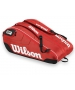 Wilson Federer Team III 12 Pack Tennis Bag (Red/ Blk Wht) - Wilson Tennis Bags