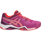 Asics Women's Gel Resolution 6 Shoes (Berry/ Coral/ Plum) - Performance Tennis Shoes