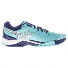 Asics Women's Gel Resolution 6 Shoes (Pool/ White/ Indigo) - 6-Month Warranty Shoes