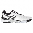 Asics Men's Gel Resolution 6 Shoes (White/ Black/ Silver) - Men's Tennis Shoes