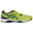 Asics Men's Gel Resolution 6 Shoes (Lime/ Pine/ Indigo) - Men's Tennis Shoes
