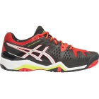 Asics Men's Gel Resolution 6 Shoes (Black/ White/ Orange) - Men's Tennis Shoes