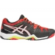 Asics Men's Gel Resolution 6 Shoes (Black/ White/ Orange) - Asics Gel-Resolution Tennis Shoes
