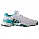 Adidas Junior Barricade Tennis Shoes (White/Black/Green) - Tennis Shoes